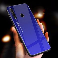 Silikon Schutzhülle Rahmen Tasche Hülle Spiegel Farbverlauf Regenbogen für Huawei Enjoy 9s Blau