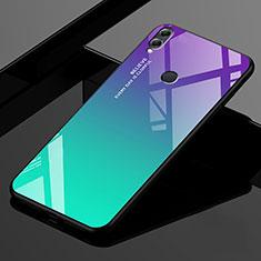 Silikon Schutzhülle Rahmen Tasche Hülle Spiegel Farbverlauf Regenbogen für Huawei Enjoy Max Grün