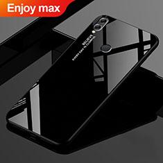 Silikon Schutzhülle Rahmen Tasche Hülle Spiegel Farbverlauf Regenbogen für Huawei Enjoy Max Schwarz
