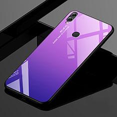 Silikon Schutzhülle Rahmen Tasche Hülle Spiegel Farbverlauf Regenbogen für Huawei Enjoy Max Violett
