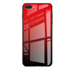 Silikon Schutzhülle Rahmen Tasche Hülle Spiegel Farbverlauf Regenbogen für Huawei Honor 10 Rot