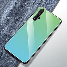 Silikon Schutzhülle Rahmen Tasche Hülle Spiegel Farbverlauf Regenbogen für Huawei Honor 20 Grün