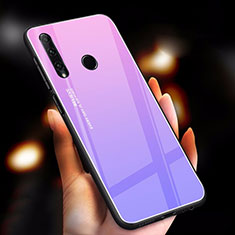 Silikon Schutzhülle Rahmen Tasche Hülle Spiegel Farbverlauf Regenbogen für Huawei Honor 20 Lite Violett
