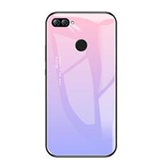 Silikon Schutzhülle Rahmen Tasche Hülle Spiegel Farbverlauf Regenbogen für Huawei Honor 9i Violett