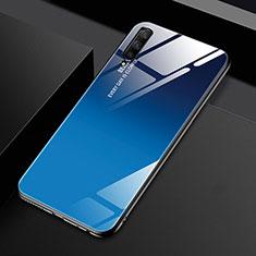 Silikon Schutzhülle Rahmen Tasche Hülle Spiegel Farbverlauf Regenbogen für Huawei Honor 9X Pro Blau