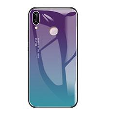 Silikon Schutzhülle Rahmen Tasche Hülle Spiegel Farbverlauf Regenbogen für Huawei Honor Play Plusfarbig