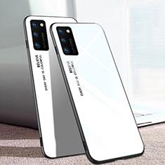 Silikon Schutzhülle Rahmen Tasche Hülle Spiegel Farbverlauf Regenbogen für Huawei Honor View 30 5G Weiß