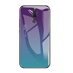 Silikon Schutzhülle Rahmen Tasche Hülle Spiegel Farbverlauf Regenbogen für Huawei Mate 10 Lite Plusfarbig