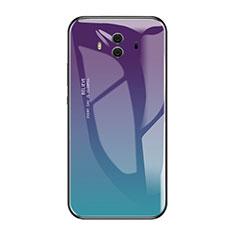 Silikon Schutzhülle Rahmen Tasche Hülle Spiegel Farbverlauf Regenbogen für Huawei Mate 10 Plusfarbig