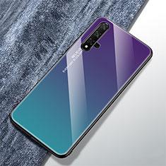 Silikon Schutzhülle Rahmen Tasche Hülle Spiegel Farbverlauf Regenbogen für Huawei Nova 5T Plusfarbig