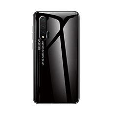Silikon Schutzhülle Rahmen Tasche Hülle Spiegel Farbverlauf Regenbogen für Huawei Nova 6 5G Schwarz