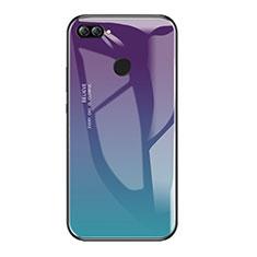 Silikon Schutzhülle Rahmen Tasche Hülle Spiegel Farbverlauf Regenbogen für Huawei P Smart Plusfarbig