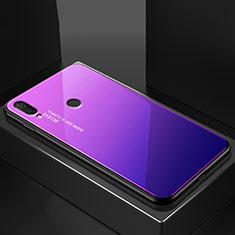 Silikon Schutzhülle Rahmen Tasche Hülle Spiegel Farbverlauf Regenbogen für Huawei P20 Lite Blau