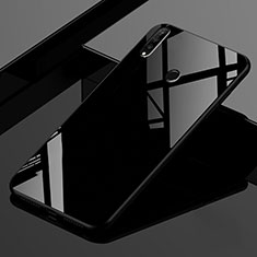 Silikon Schutzhülle Rahmen Tasche Hülle Spiegel Farbverlauf Regenbogen für Huawei P30 Lite Schwarz