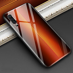 Silikon Schutzhülle Rahmen Tasche Hülle Spiegel Farbverlauf Regenbogen für Huawei P30 Orange