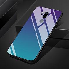 Silikon Schutzhülle Rahmen Tasche Hülle Spiegel Farbverlauf Regenbogen für LG G7 Plusfarbig