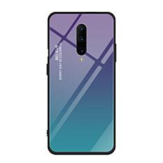 Silikon Schutzhülle Rahmen Tasche Hülle Spiegel Farbverlauf Regenbogen für OnePlus 7 Pro Plusfarbig