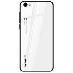 Silikon Schutzhülle Rahmen Tasche Hülle Spiegel Farbverlauf Regenbogen für Oppo A3 Weiß