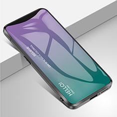 Silikon Schutzhülle Rahmen Tasche Hülle Spiegel Farbverlauf Regenbogen für Oppo Find X Super Flash Edition Plusfarbig