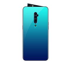 Silikon Schutzhülle Rahmen Tasche Hülle Spiegel Farbverlauf Regenbogen für Oppo Reno 10X Zoom Hellblau