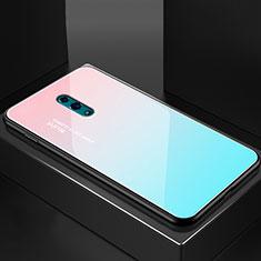Silikon Schutzhülle Rahmen Tasche Hülle Spiegel Farbverlauf Regenbogen für Oppo Reno Plusfarbig