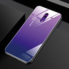 Silikon Schutzhülle Rahmen Tasche Hülle Spiegel Farbverlauf Regenbogen für Oppo Reno Z Violett