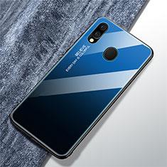 Silikon Schutzhülle Rahmen Tasche Hülle Spiegel Farbverlauf Regenbogen für Samsung Galaxy A40 Blau