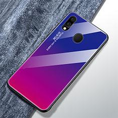 Silikon Schutzhülle Rahmen Tasche Hülle Spiegel Farbverlauf Regenbogen für Samsung Galaxy A40 Plusfarbig