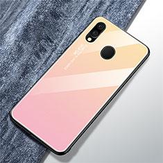 Silikon Schutzhülle Rahmen Tasche Hülle Spiegel Farbverlauf Regenbogen für Samsung Galaxy A40 Rosa