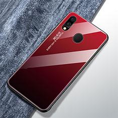 Silikon Schutzhülle Rahmen Tasche Hülle Spiegel Farbverlauf Regenbogen für Samsung Galaxy A40 Rot