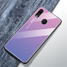 Silikon Schutzhülle Rahmen Tasche Hülle Spiegel Farbverlauf Regenbogen für Samsung Galaxy A40 Violett
