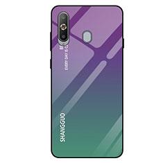 Silikon Schutzhülle Rahmen Tasche Hülle Spiegel Farbverlauf Regenbogen für Samsung Galaxy A8s SM-G8870 Grün