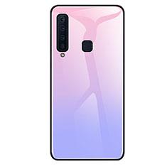 Silikon Schutzhülle Rahmen Tasche Hülle Spiegel Farbverlauf Regenbogen für Samsung Galaxy A9s Violett