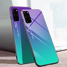 Silikon Schutzhülle Rahmen Tasche Hülle Spiegel Farbverlauf Regenbogen für Samsung Galaxy S20 Plus 5G Plusfarbig