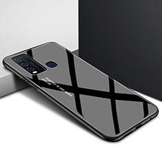 Silikon Schutzhülle Rahmen Tasche Hülle Spiegel Farbverlauf Regenbogen für Vivo Y50 Schwarz