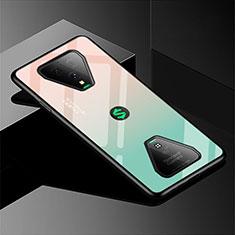 Silikon Schutzhülle Rahmen Tasche Hülle Spiegel Farbverlauf Regenbogen für Xiaomi Black Shark 3 Grün
