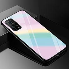 Silikon Schutzhülle Rahmen Tasche Hülle Spiegel Farbverlauf Regenbogen für Xiaomi Mi 10T Pro 5G Bunt
