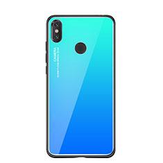 Silikon Schutzhülle Rahmen Tasche Hülle Spiegel Farbverlauf Regenbogen für Xiaomi Mi 8 SE Blau