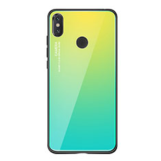 Silikon Schutzhülle Rahmen Tasche Hülle Spiegel Farbverlauf Regenbogen für Xiaomi Mi 8 SE Grün