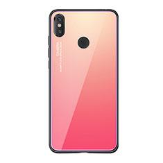 Silikon Schutzhülle Rahmen Tasche Hülle Spiegel Farbverlauf Regenbogen für Xiaomi Mi 8 SE Pink