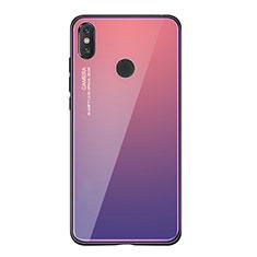 Silikon Schutzhülle Rahmen Tasche Hülle Spiegel Farbverlauf Regenbogen für Xiaomi Mi 8 SE Violett