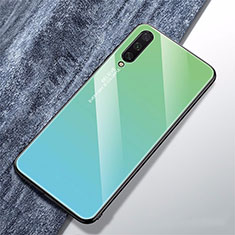 Silikon Schutzhülle Rahmen Tasche Hülle Spiegel Farbverlauf Regenbogen für Xiaomi Mi A3 Cyan