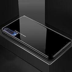 Silikon Schutzhülle Rahmen Tasche Hülle Spiegel Farbverlauf Regenbogen für Xiaomi Mi A3 Lite Schwarz