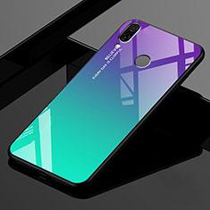 Silikon Schutzhülle Rahmen Tasche Hülle Spiegel Farbverlauf Regenbogen für Xiaomi Redmi 7 Grün