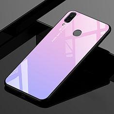 Silikon Schutzhülle Rahmen Tasche Hülle Spiegel Farbverlauf Regenbogen für Xiaomi Redmi 7 Rosa