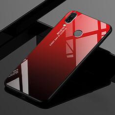 Silikon Schutzhülle Rahmen Tasche Hülle Spiegel Farbverlauf Regenbogen für Xiaomi Redmi 7 Rot