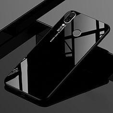Silikon Schutzhülle Rahmen Tasche Hülle Spiegel Farbverlauf Regenbogen für Xiaomi Redmi 7 Schwarz