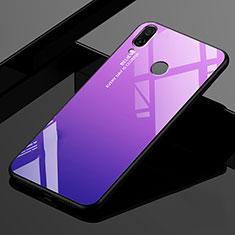 Silikon Schutzhülle Rahmen Tasche Hülle Spiegel Farbverlauf Regenbogen für Xiaomi Redmi 7 Violett