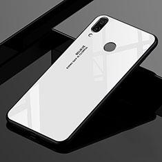Silikon Schutzhülle Rahmen Tasche Hülle Spiegel Farbverlauf Regenbogen für Xiaomi Redmi 7 Weiß