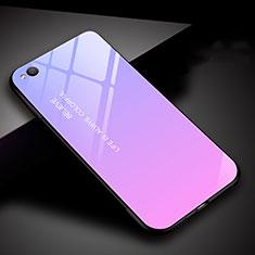 Silikon Schutzhülle Rahmen Tasche Hülle Spiegel Farbverlauf Regenbogen für Xiaomi Redmi Go Violett